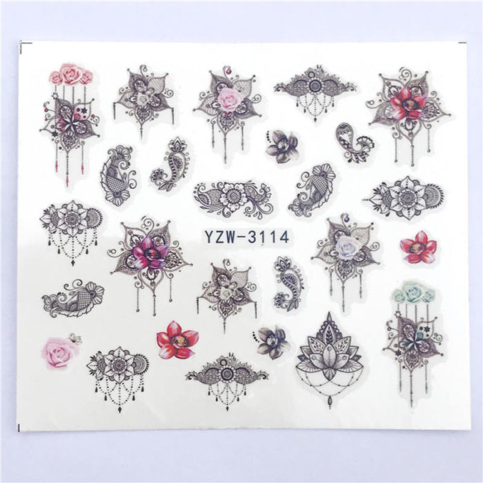 Nail Art Stickers Single Sheet