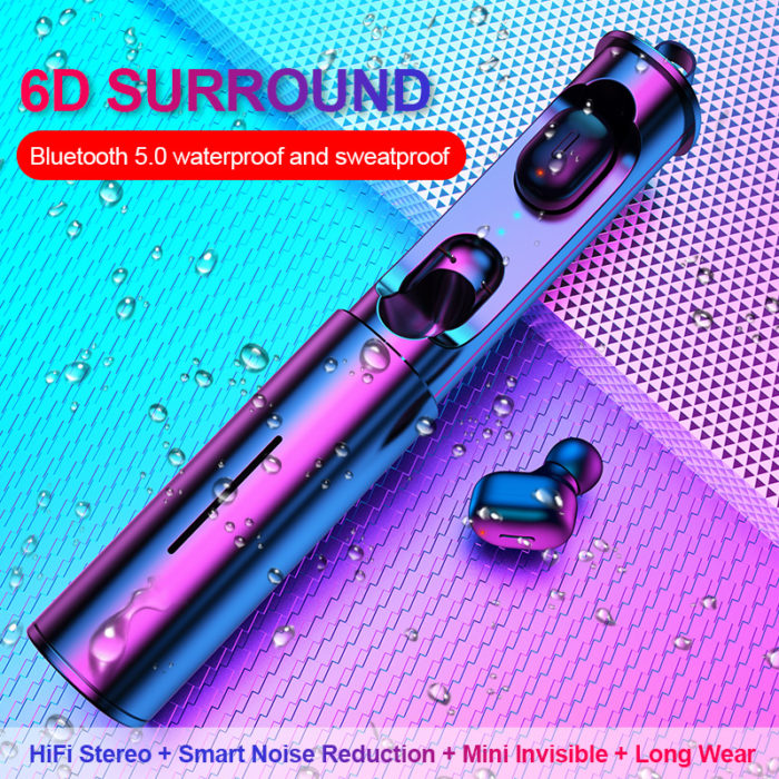 Bass Earphones 6D Surround Earbuds
