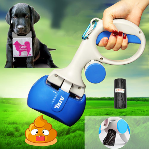 2in1 Dog Poop Scooper Bag Holder
