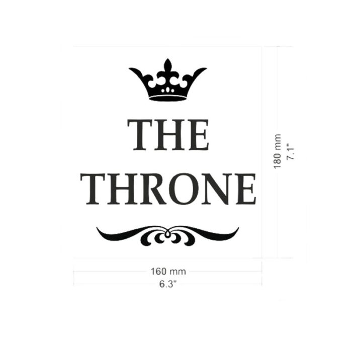 Funny Stickers Toilet Decor (The Throne)