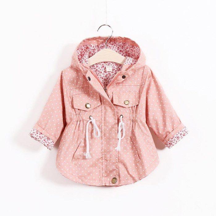Kids Jackets Girls Hooded Coat