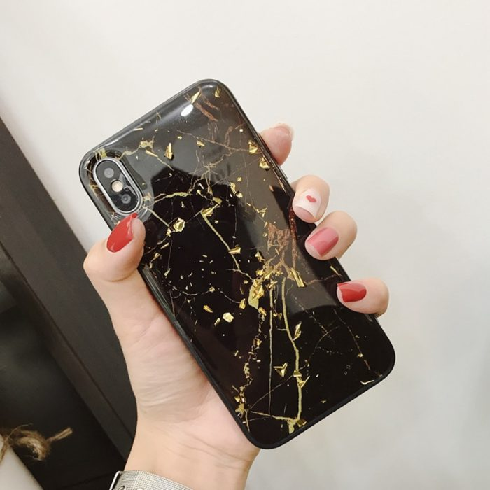 Marble Case iPhone Soft TPU Cover
