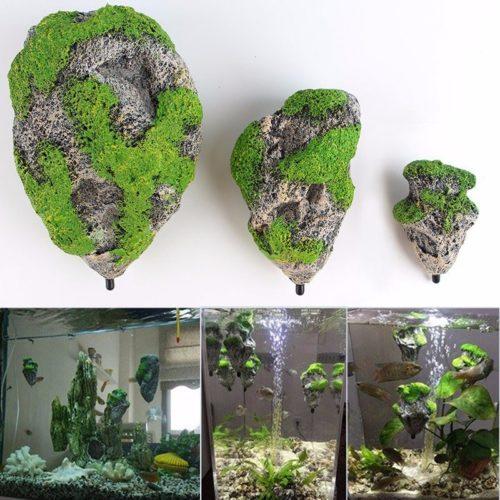 Aquarium Ornaments Floating Rock Decor