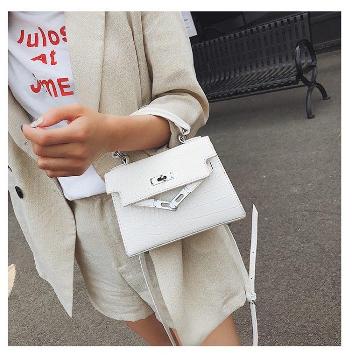Leather Handbags Crocodile Pattern Bag