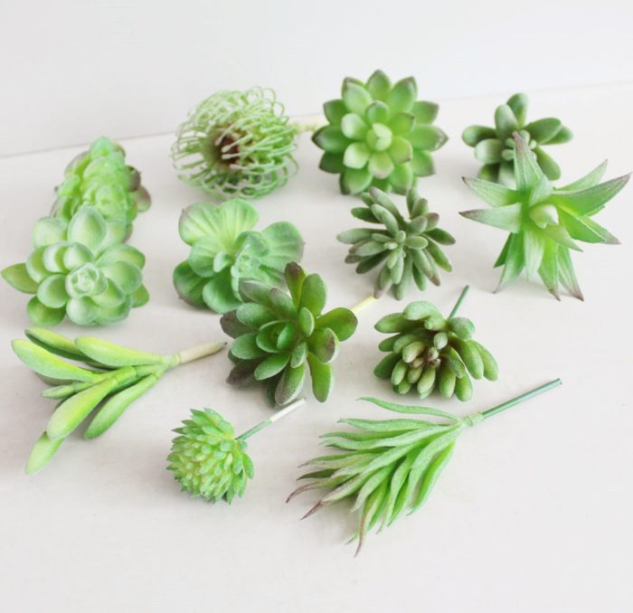 Artificial Succulents Fake Cactus Plants
