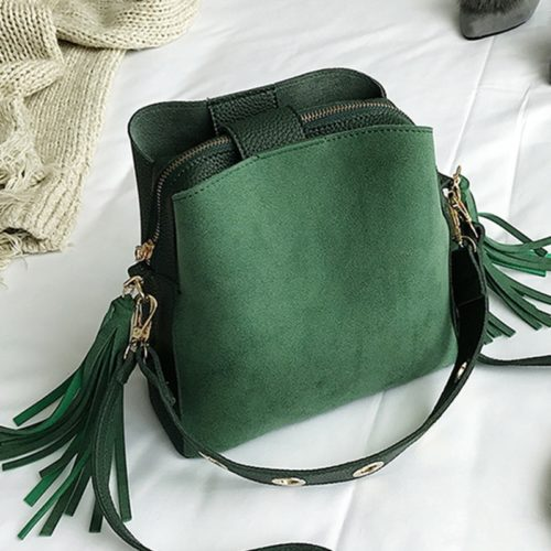 Cross Shoulder Bag Suede Bucket