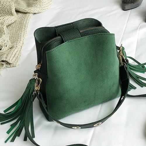 Cross Shoulder Bag Suede Bucket