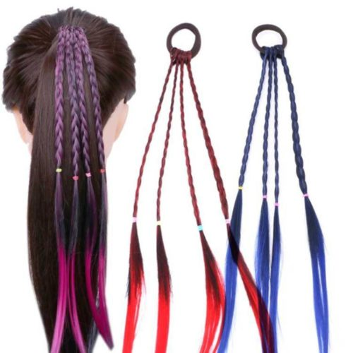 Ponytail Colorful Wig Accessories