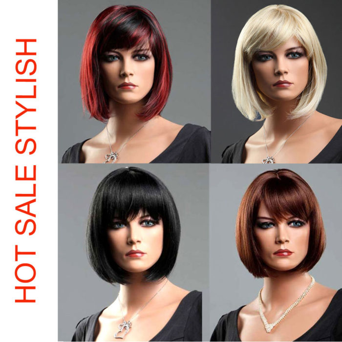 Synthetic Hair Wig Bob Style