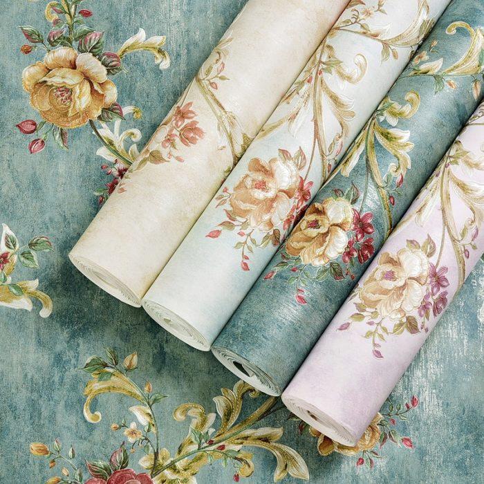 Floral Wallpaper Home Decor