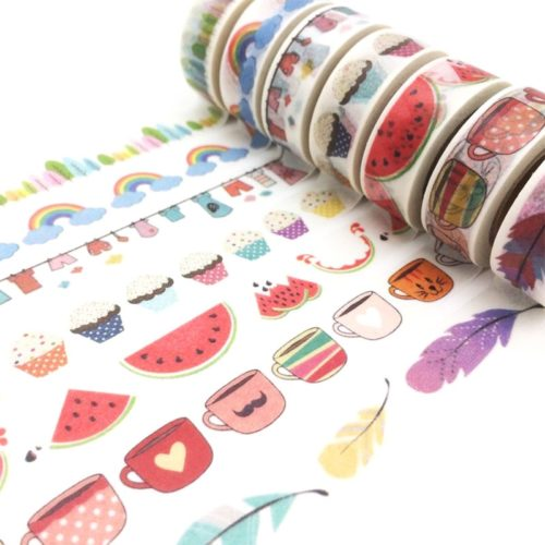 Masking Tape Cute Scrapbook Design