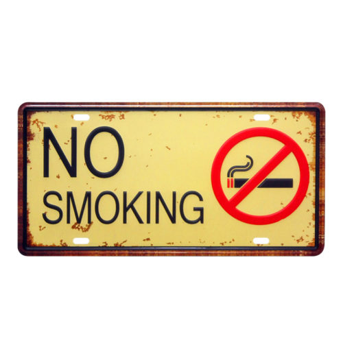 No Smoking Sign Vintage Design