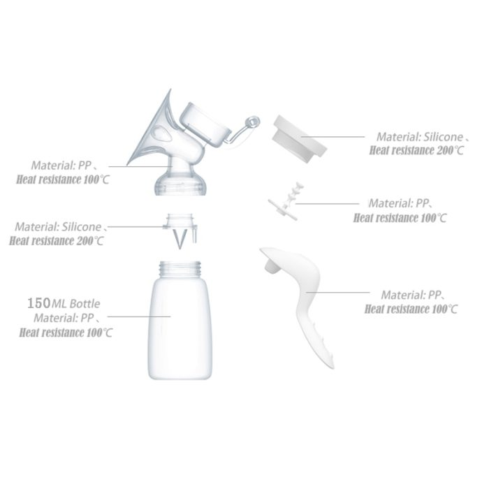 Manual Breast Pump 150ml Bottle