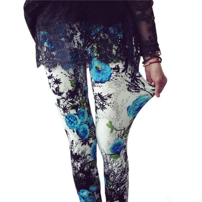 Printed Leggings High-Waisted Pants