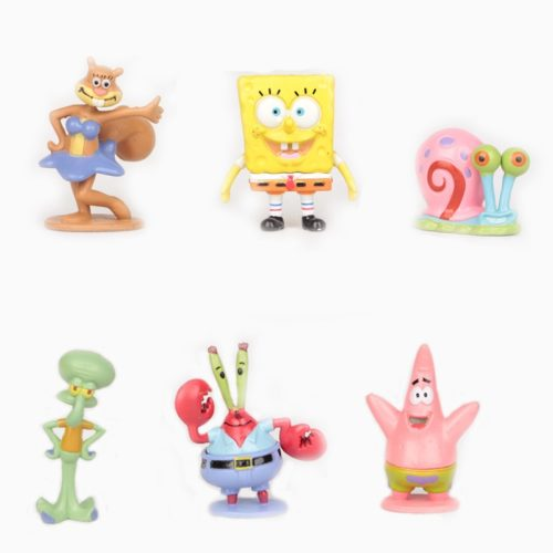 6pcs Sponge Bob Toys and Friends Figures