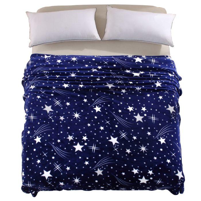 Soft Blanket Galaxy Stars Design