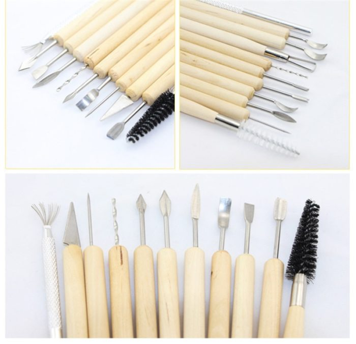 Sculpting Tools 11pcs Wood Handle Set