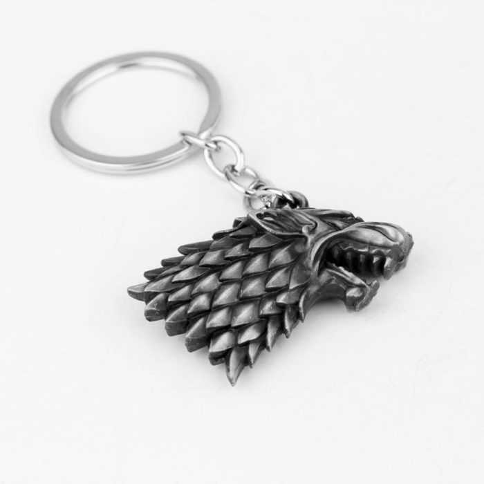 Keychain House Of Stark Wolf Head
