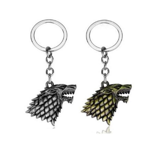 Keychain House Of Stark Wolf Head