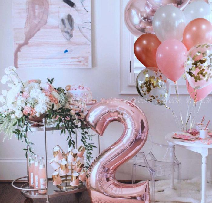 Foil Balloons Party Decor No.0-9