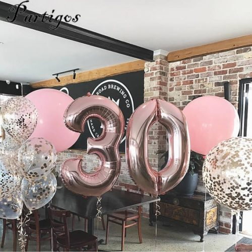 Foil Balloons Party Decor No.0-9