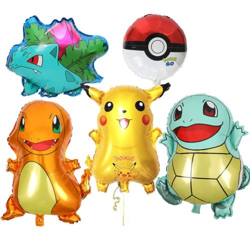 Balloon Cartoon Character Pokemon 5pcs