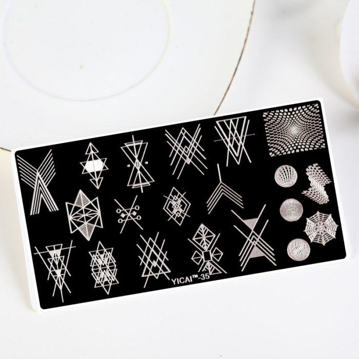Nail Stamping Templates Stylish Designs