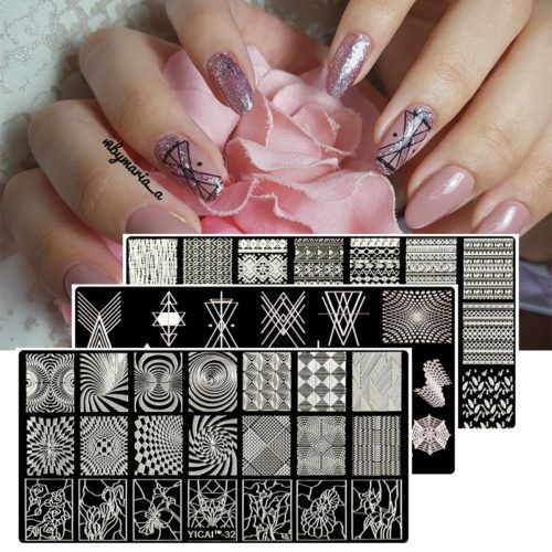 Nail Stamping Templates Stylish Designs