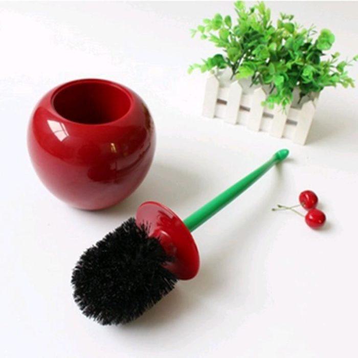 Toilet Brush Cleaner Cherry Shape