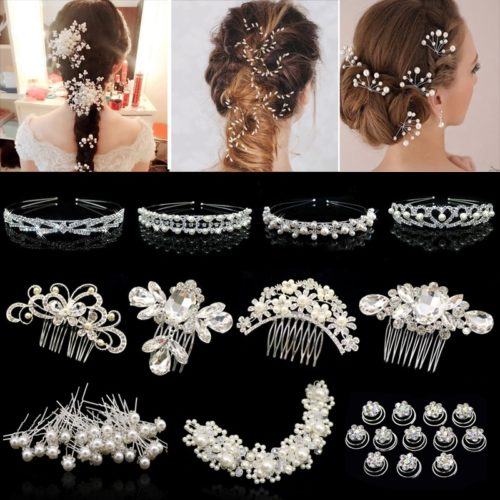 Wedding Hair Accessories Rhinestone Clips