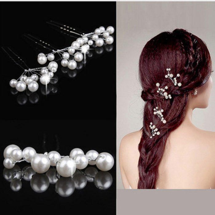 Wedding Hair Accessories Rhinestone Clips
