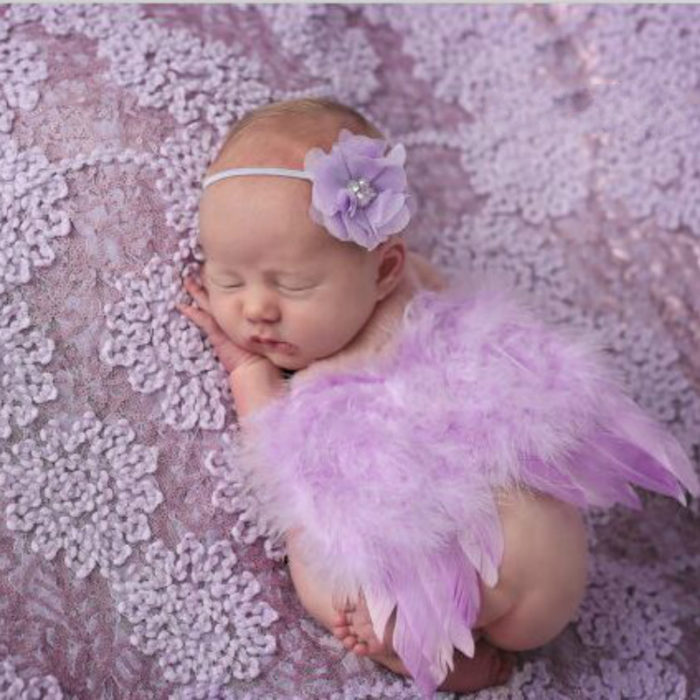 Newborn Photography Props Wings & Headband