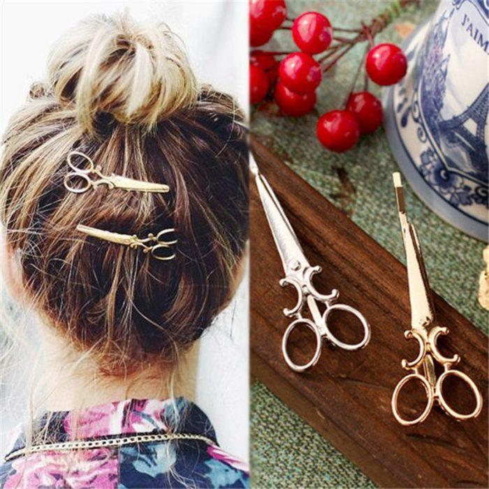 Hair Grips Scissor-Shaped Pins