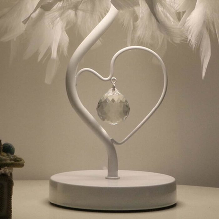 Bedside Table Lamps Feather Light