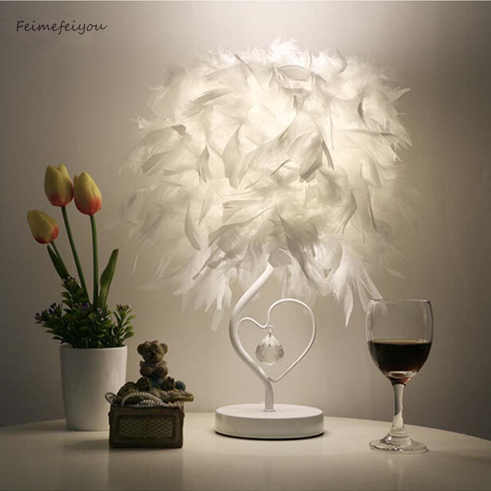 Image result for Bedside Table Lamps Feather Light