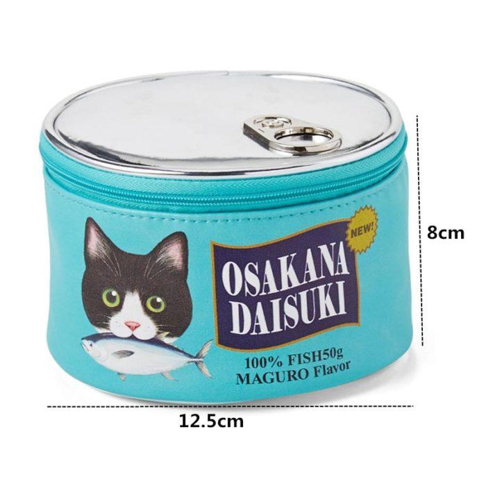 Cute Makeup Bags Cat Food Can