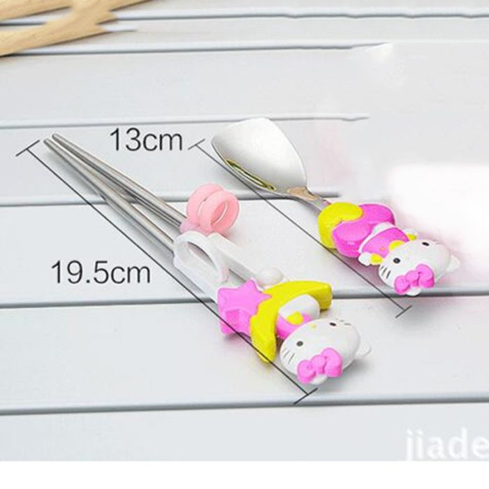 Metal Chopsticks Kids Training Spoon