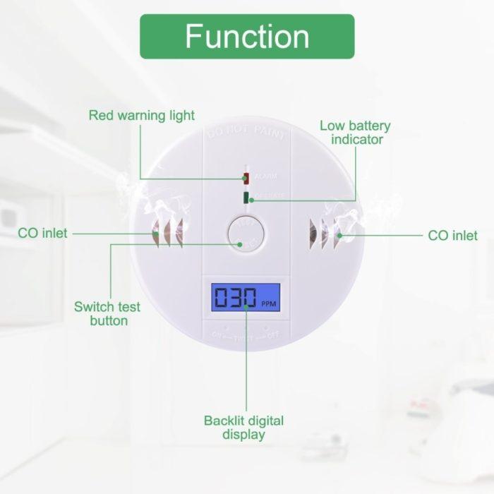 Carbon Monoxide Alarm Gas Detector