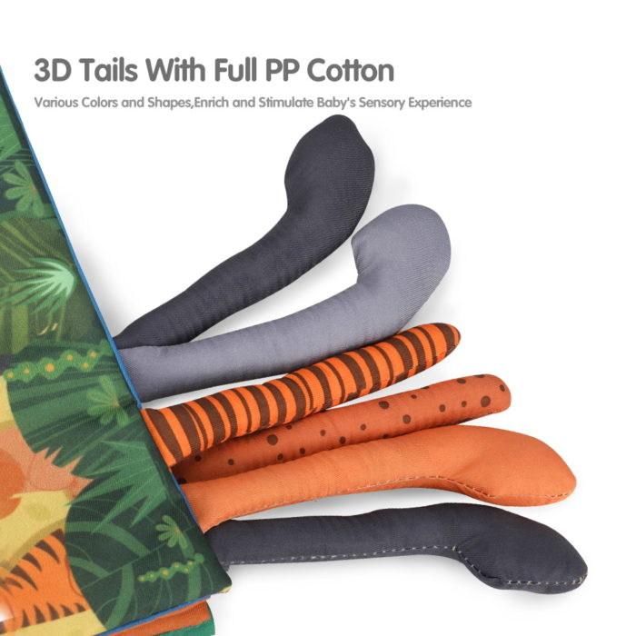 Animal Books Soft with Rattle