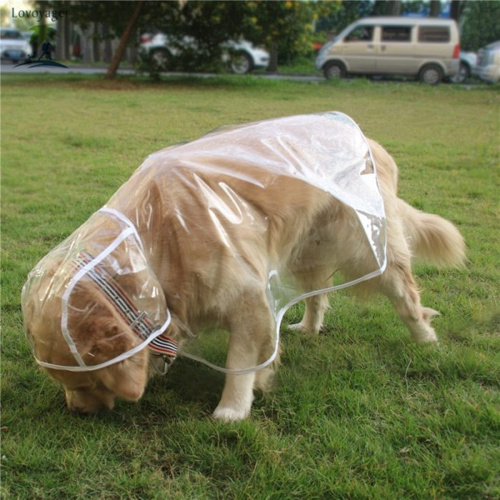 Waterproof Dog Coats Transparent for Rain