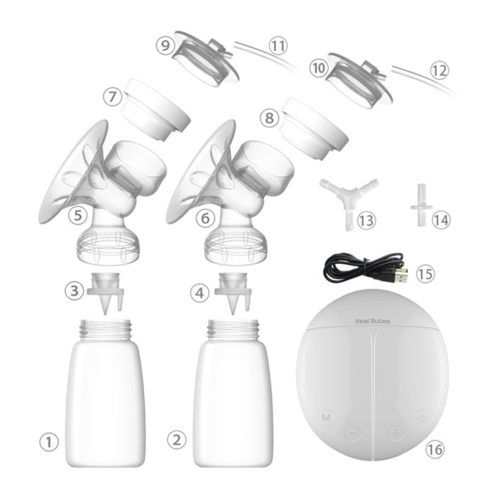 Breast Pump Electric with Milk Bottle