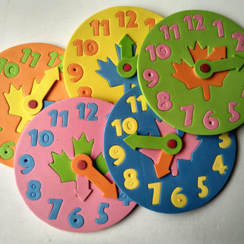 DIY Clock Educational Puzzle
