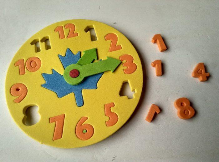 DIY Clock Educational Puzzle