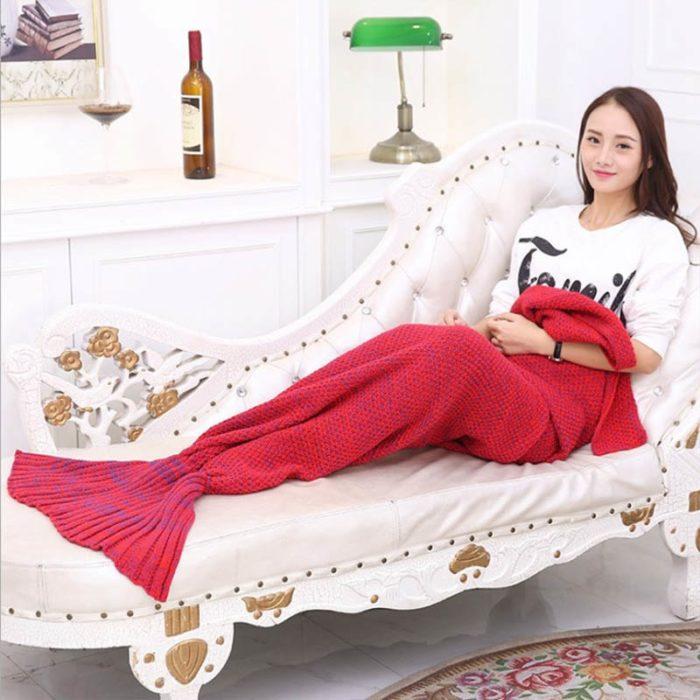 Mermaid Tail Blanket Bed Wrap