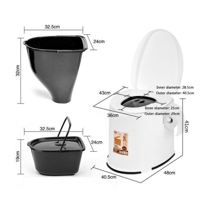 Portable Potty Indoor/Outdoor Toilet