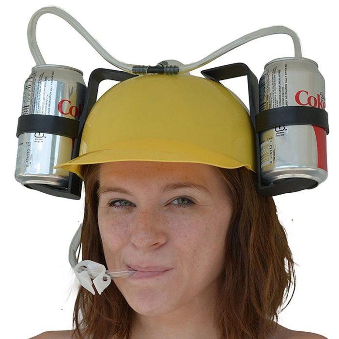 Drinking Hat Handsfree Beverage Holder