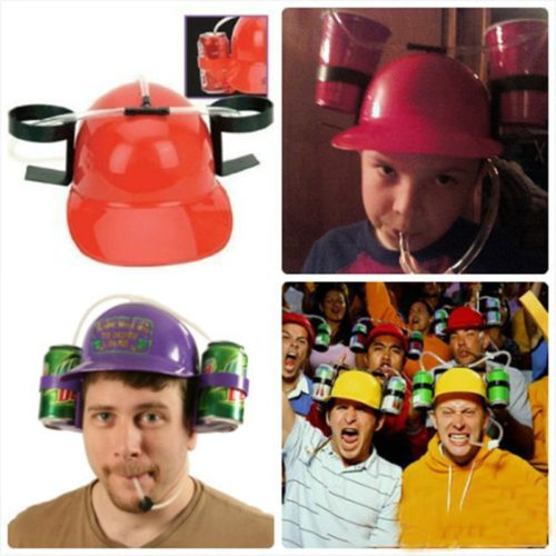 Drinking Hat Handsfree Beverage Holder