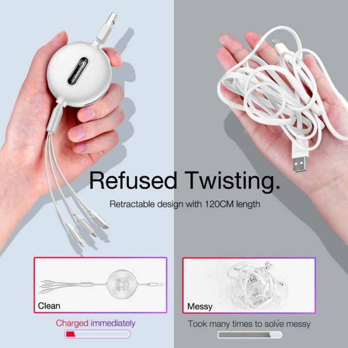 Type C Cable 3-in-1 USB Charger