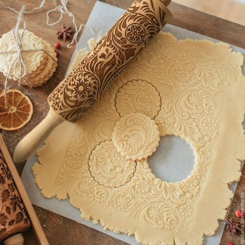 Embossed Rolling Pin Wooden