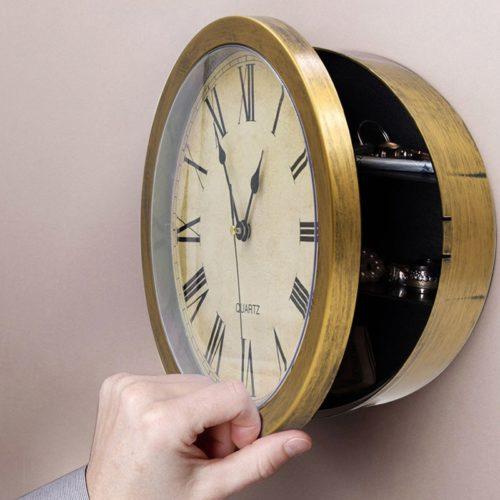 Secret Safe Storage Box Wall Clock
